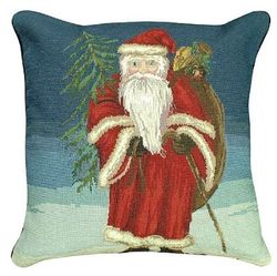 Santa with Tree Christmas Pillow  <font color=a8bb35> NEW</font>