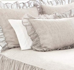 Savannah Linen Chambray Dove Grey Sham
