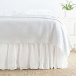Savannah Linen Gauze Bed Skirt White