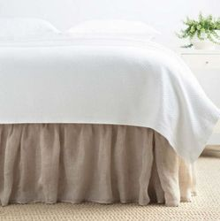 Savannah Linen Gauze Bed Skirt - Natural