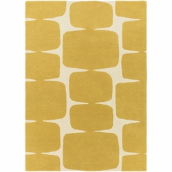 Scion Mustard Hand Tufted Rug  <font color=a8bb35> NEW</font>