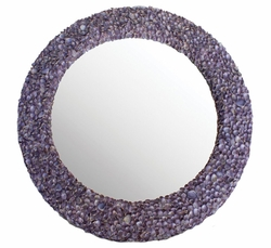Sea Lavender Limpet Shell Mirror