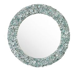 Limpet Shell Mirror in Blue