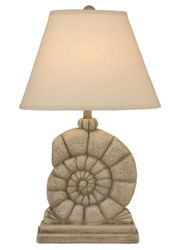 Sea Snail Table Lamp in Sea Stone