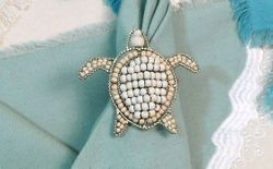 Sea Turtle Napkin Rings Set