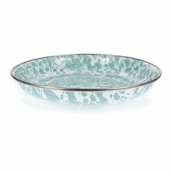 Seaglass Teal Pasta Plate Set of Four