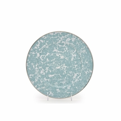 Seaglass Teal Swirl Dinner Plates Set of Four