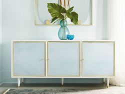 Seaglass Three Door Credenza <font color=a8bb35>NEW</font>