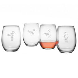 Seagull Stemless Wine Glass - Set of 4 *NEW
