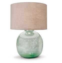 Seeded Recycled Glass Vessel Lamp