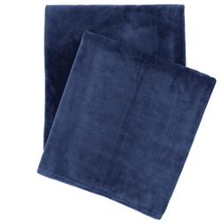 Selke Fleece Indigo Throw <font color=a8bb35> NEW</font>