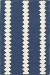 Senna Blue/Ivory Woven Wool Rug<font color=a8bb35> NEW</font>