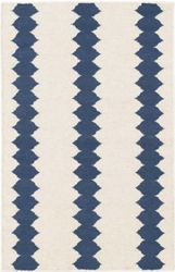 Senna Ivory/Blue Woven Wool Rug<font color=a8bb35> NEW</font>