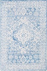Serafina Pale Blue Hand Tufted Rug <font color=a8bb35> NEW</font>