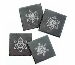 Set of 4 Snowflake Coasters