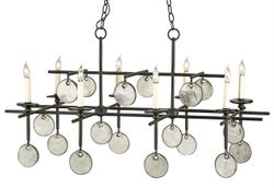 Sethos Rectangular Chandelier in Two Finishes *Low Stock