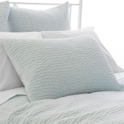 Seychelles Quilted Sham in Sky Blue