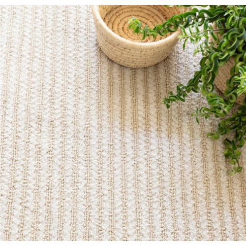 Shear Stripe Ivory Woven Rug *Sold out