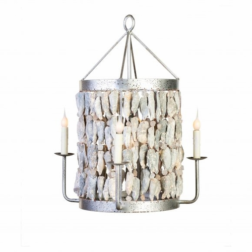 Shell Drum Chandelier with 5 Lights