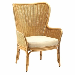 Sheridan Rattan Wing Chair in Three Colors