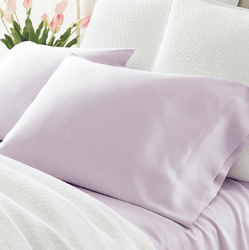 Silken Solid Pale Lilac Pillowcases <font color=a8bb35>NEW</font>