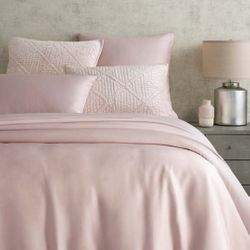 Silken Solid Duvet Cover Pink 15% Off