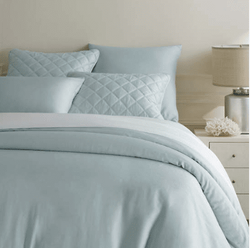 Silken Solid Robin's Egg Blue Duvet Cover 15% Off