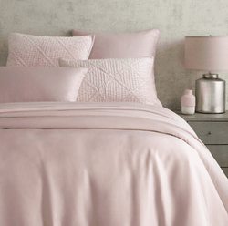 Silken Solid Slipper Pink Duvet Cover 15% Off
