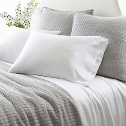 Silken Solid White Sheet Set <font color=a8bb35>NEW</font>