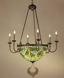 Lotus Bud Chandelier in Six or Three Arms