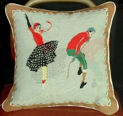 Skater Christmas Pillow <font color=a8bb35> NEW</font>