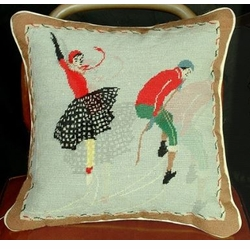 Skater Christmas Pillow