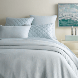 Sketch Jacquard Robin's Egg Blue Duvet Cover