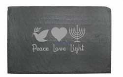 Slate Cheese Server - Peace, Love & Light