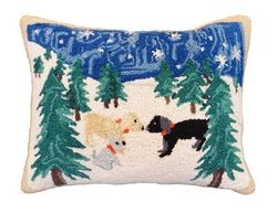 Snow Dogs Pillow  <font color=a8bb35> NEW</font>
