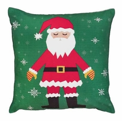 Snowflake Santa Christmas Pillow
