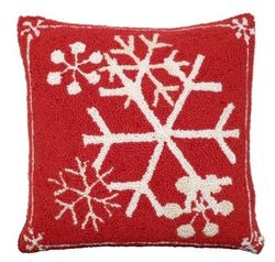 Snowflakes Christmas Pillow  <font color=a8bb35> NEW</font>
