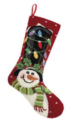 Snowman With Top Hat Hook Christmas Stocking<font color =a8bb35> Sold out</font>