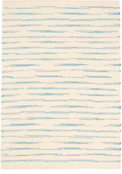 Solana Asiatic Blue Woven Cotton Rug <font color=a8bb35>NEW</font>