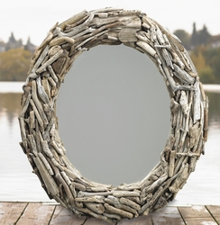 Handcrafted Driftwood Solstice Mirror