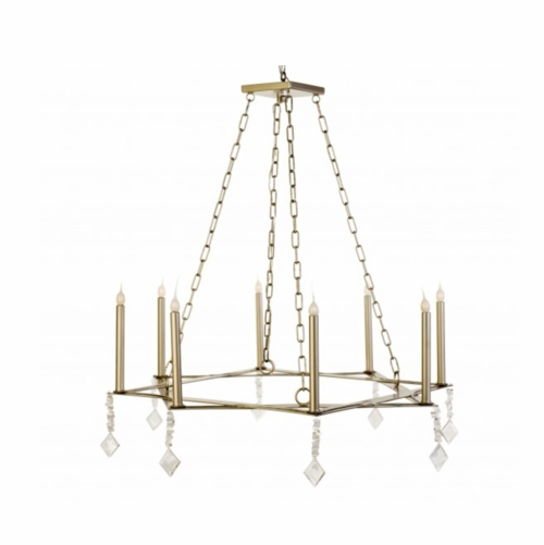 Square on Square Chandelier