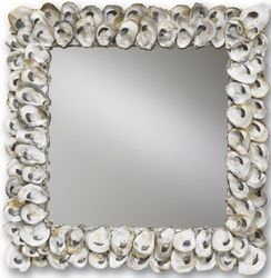 Square Oyster Shell Mirror