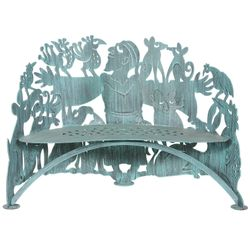 St. Francis Metal Garden Bench *NEW*
