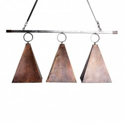 St. Helena's Copper Pyramid Island Chandelier