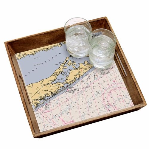 Stained Wood Serving Tray - Customize Your Location *Backorder