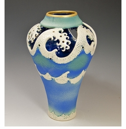Star Top Wave Ceramic Vase