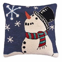Starry Snowman Christmas Pillow