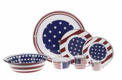 Stars & Stripes Enamel Dinner Set