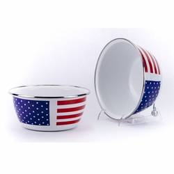 Stars & Stripes Salad Bowl Set of Four