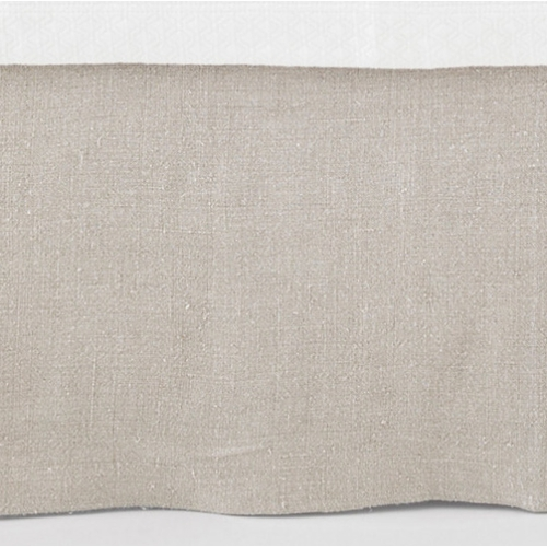 Stone Washed Linen Natural Tailored Bedskirt